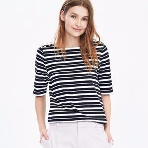Banana Republic Striped Boatneck Short Sleeve Tee